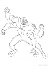 ben 10 coloring pages four arms Coloring4free - Coloring4Free.com
