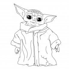 I created a coloring page for Bebe Yoda (The Child) Enjoy : BabyYoda