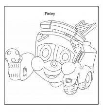 Fire Truck Coloring For Kids Pages