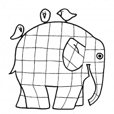 elmer coloring page
