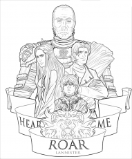 House Lannister game of thrones coloring pages - Clip Art ...