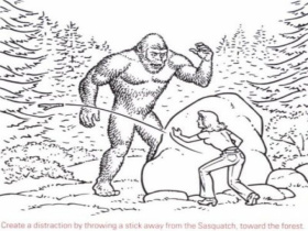 Bigfoot Creature Coloring Pages, bigfoot sasquatch coloring pages ...