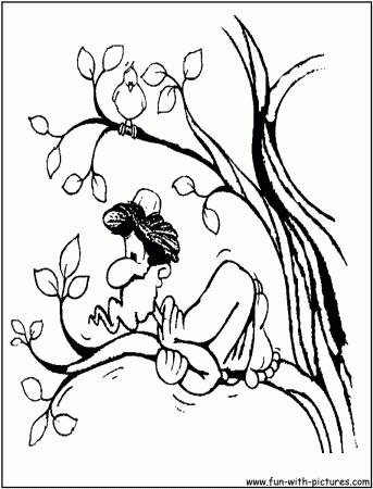 Zacchaeus Jesus Coloring Page Archives