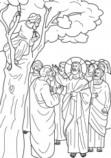 jesus and zacchaeus coloring pages. zacchaeus in a tree coloring ...