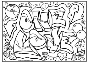 Love Draw Coloring Pages Free Printable Online