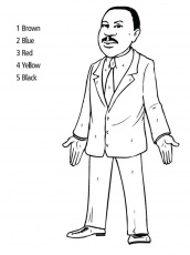 Martin Luther King Jr Coloring Pages | Realistic Coloring Pages