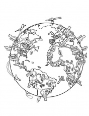 World Map Coloring Page | This is a drawing I did a while back ...