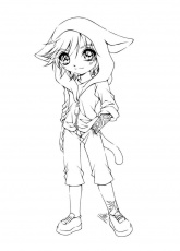 Cute Anime Coloring Pages Wallpaper | coloring pages | Anthro Line ...