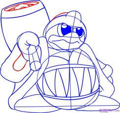 draw king dedede from kirby step by step drawing sheets added