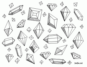 Gems coloring pages