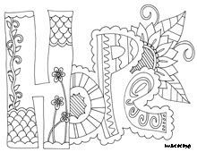 Printable Doodle Art - Coloring Pages for Kids and for Adults