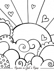 Heaven Pearly Gates Drawing Sketch Coloring Page Coloring Home