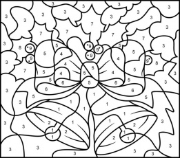 Color By Number Christmas Coloring Sheets - Christmas ...