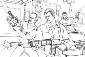 8 Free Printable GTA 5 Coloring Pages - 1NZA