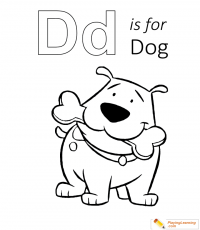 D Is For Dog 02 Coloring Page | Free D Is For Dog Coloring Page