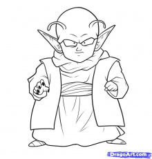 How to Draw Dende, Step by Step, Dragon Ball Z Characters, Anime