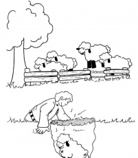 Lost Sheep coloring pages | The Parable of the Lost Sheep