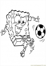 Free Printable Coloring Page Spongebob Soccer 0 Cartoons