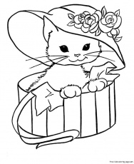 kids coloring pages cute kitties