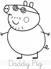 Peppa Pig daddy pig coloring pages