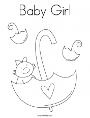 Baby Girl - Coloring Pages for Kids and for Adults