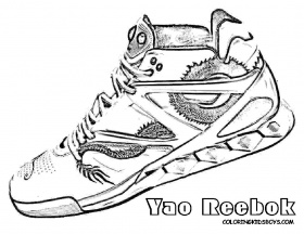 Essay Sneakers Coloring Pages Printable Coloring Panda, Printable ...