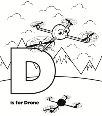 Drones coloring pages