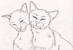 Cats Couple Coloring Pages - Coloring Pages For All Ages
