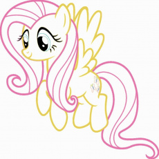 My Little Pony Fluttershy Coloring Pages For Kids And For Adults