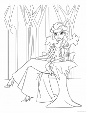 Queen Elsa Of Arendelle Coloring Pages - Cartoons Coloring Pages - Free  Printable Coloring Pages Online