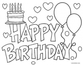 Birthday Coloring Pages Picture - Whitesbelfast