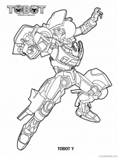 Tobot Coloring Pages TV Film Tobot 7 ...coloring4free.com