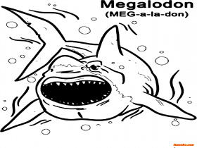 Megalodon coloring pages to print - Funsoke