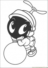 Coloring Pages Baby Marvin The Martian (Cartoons > Others) - free