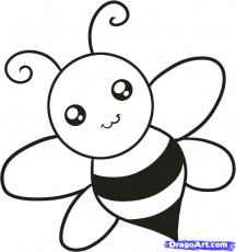 How to Draw a Bee for Kids, Step by Step, Animals For Kids, For