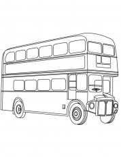 London double decker bus coloring page | Download Free London