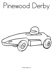 Printable Coloring Pages For Kids Soap Box Derby Car