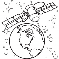 space satellite Colouring Pages