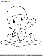 Pocoyo coloring pages in the Coloring Library