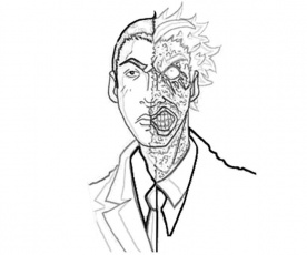 Harvey Dent (The Dark Knight ) - Two Face Coloring Pages ...