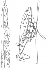 ARMY vehicles coloring pages - Helicopter