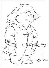 Paddington Bear coloring pages