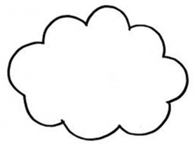 Cloud Coloring Page. shapes free printable. free cloud coloring ...
