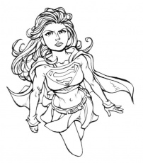 printable Supergirl coloring pages for girls | Super Hero Party ...