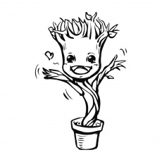 Baby Groot Coloring Page Printable ...line.17qq.com