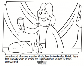 Last Supper - Bible Coloring Pages | What's in the Bible?