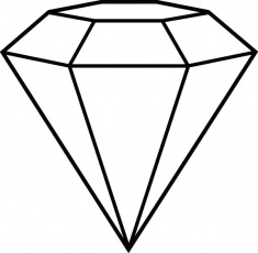 Collection of Diamond shape clipart | Free download best ...