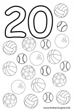 Number 20 Coloring Page - HiColoringPages