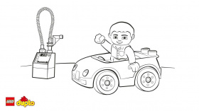 LEGO® DUPLO® Car colouring page - Coloring page - Activities ...