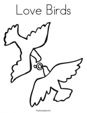 Love Birds Coloring Page - Twisty Noodle